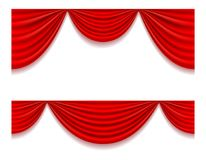 Red theatrical curtain vector illustration Royalty Free Stock Images