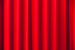 Red theatrical curtain, wavy background Royalty Free Stock Photography