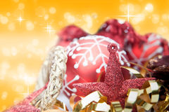 Red theme Christmas decorations Royalty Free Stock Images
