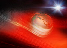 Red Theme Digital Binary World Background Concept Series 31 Stock Image