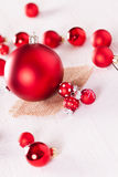Red themed Christmas background Stock Photos
