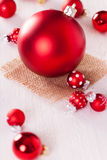 Red themed Christmas background Royalty Free Stock Photography