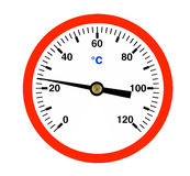 Red Thermometer, ( illustration ). Stock Photos