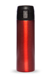 Red thermos collection isolated on white background Royalty Free Stock Photography