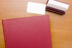 Red thick book Royalty Free Stock Image