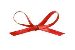 Red thin ribbon bow Stock Photo