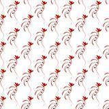 Red thin seamless pattern Stock Photos