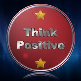 Think Positive Button Royalty Free Stock Photo