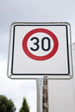 Red Thirty Speed Sign Stock Image
