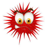 Red thorn ball with angry face Stock Photo