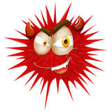 Red thorny with devil face Stock Photography