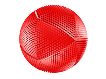 Free Red Thorny Textured Sphere Isolated On White. Royalty Free Stock Image - 13712326