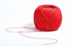 Red thread ball Royalty Free Stock Photos