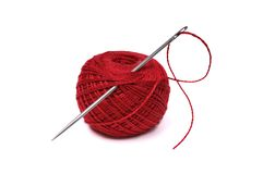 Red thread ball Stock Photography