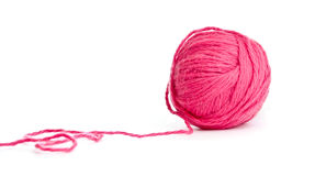 Red thread clew isolated Royalty Free Stock Image