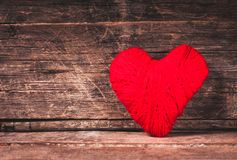 Red thread heart Stock Image
