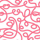 Red thread swirls seamless vector print Royalty Free Stock Photography