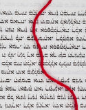 Red thread - the symbol of Kabbalah Royalty Free Stock Photography