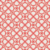 Red threads. Seamless pattern with bound red threads Royalty Free Stock Photos