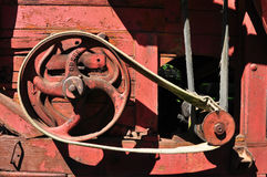 Red thresher detail Royalty Free Stock Image