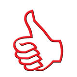 Red thumb up Stock Images