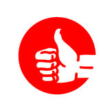 Red thumbs up Royalty Free Stock Photography