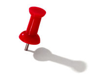 Red thumbtack Stock Photo