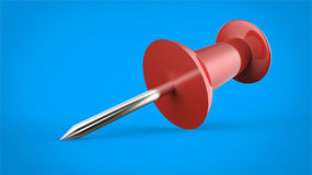 Red thumbtack Royalty Free Stock Images