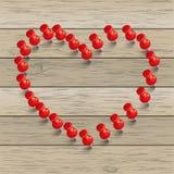 Red Thumbtack Heart Royalty Free Stock Photo