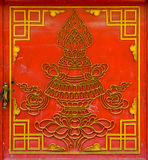 Red Tibetan door Stock Image
