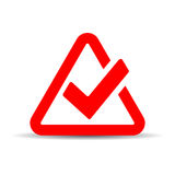 Red tick mark symbol Stock Photos
