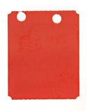 Red Ticket. Isolated on a white background Royalty Free Stock Photo