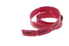 Red Tickets Royalty Free Stock Photo