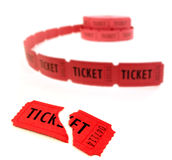 Red Tickets Royalty Free Stock Photography