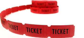 Red Tickets Stock Photos