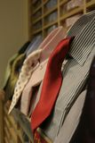 Red Tie. Shirts and ties for sale at store Royalty Free Stock Photos