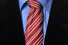 Red tie. Detail of a Business man Suit with red tie Stock Image