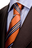 Red tie. Detail of a Business man Suit with red tie Stock Photos
