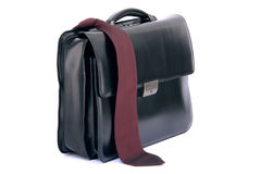Red tie and briefcase Stock Photography