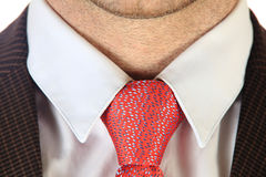 Red tie close-up Stock Images