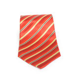 Red tie with golden stripes Stock Photography