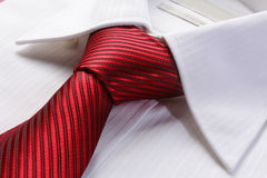 Red tie for men Stock Photo