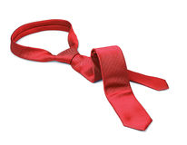 Red tie taken off Stock Photography