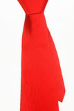 Red tie on a white background Royalty Free Stock Photos