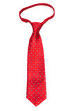 Red tie on white background Royalty Free Stock Photography