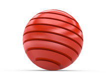 Red tiered sphere. Illustration of a red sphere with segments or tiers Royalty Free Stock Images