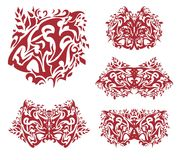 Red tiger head and symbols from it Royalty Free Stock Photography
