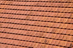 Red tike roof royalty free stock images