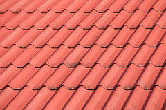 Red tile element of roof Royalty Free Stock Photography