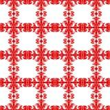 Red tile frames seamless pattern. Tile style red tile frame shapes distribution pattern. Seamless tile background pattern Stock Images
